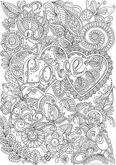 Love In Details Printable Adult Coloring Page From Favoreads