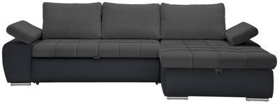 Diese Wohnlandschaft mitSchlaffunktionist ein wahrer Wandlungskünstler. Tagsüber nutzen Sie das Polstermöbel wie ein herkömmliches Sofa - ideal zum Entspannen, Lesen oder Fernsehen. Über Nacht lässt es sich zu einem Längsschläfer umfunktionieren. So profitieren Sie oder Ihre Gäste von einer großzügigen Schlafmöglichkeit auf Sitzhöhe. Decken und Bezüge liegen im praktischenBettkastenbereits parat. Da können gesellige Abende ruhig mal etwas länger genossen werden.   Und das in zweierlei…
