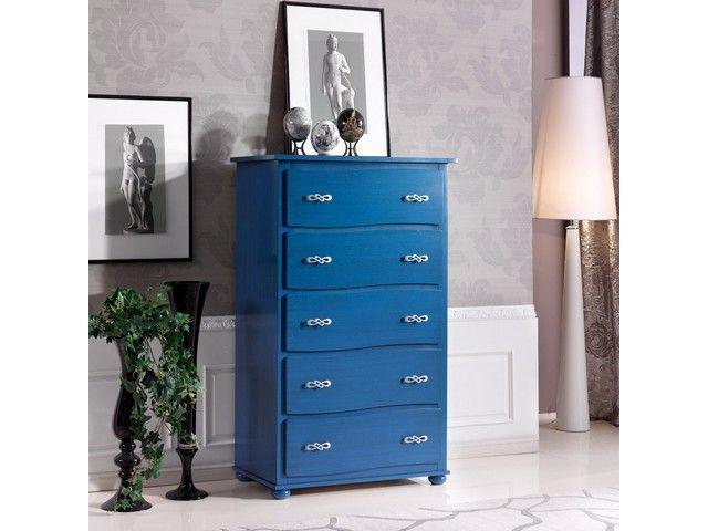 mobili blu -comò
