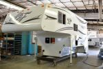 2014 Arctic Fox 990 camper on the assembly line...as soon as the Jeep is paid off this will be ours