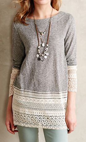 lovely lace sweatshirt http://rstyle.me/n/nfbsepdpe