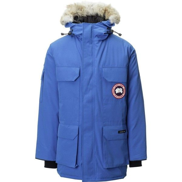Canada Goose Polar Bears International Expedition Down Parka ($1,045) ❤ liked on Polyvore featuring men's fashion, men's clothing, men's outerwear, men's coats, canada goose mens coat, mens parka coats, mens white coat, mens bear skin coat and mens hooded coats