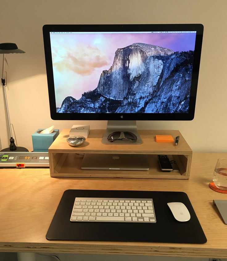 25 best ideas about monitor stand on pinterest ikea alex desk computer desk organization and. Black Bedroom Furniture Sets. Home Design Ideas