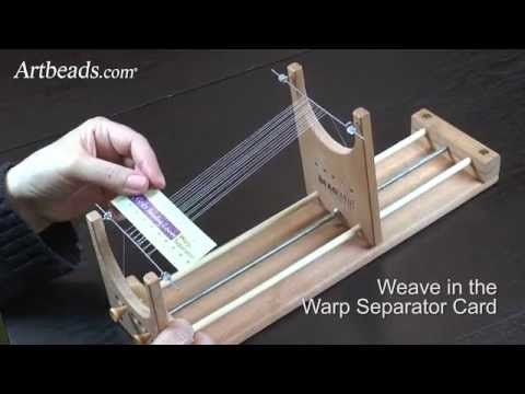 The Ricks Beading Loom - How to Set Up the Warp Threads