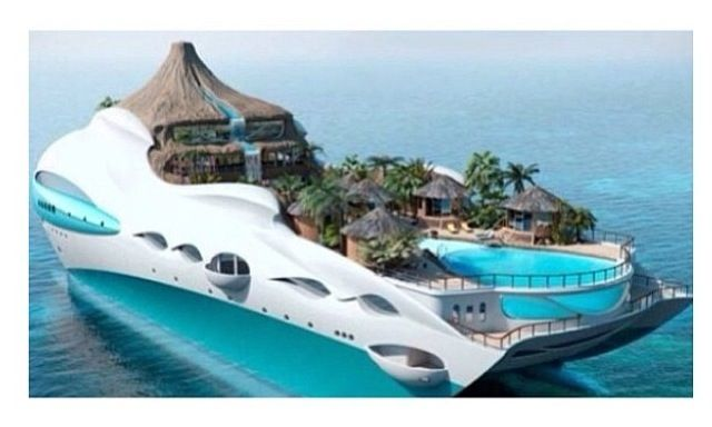 Futuristic ocean liner design, saw it on Yahoo! a whole ago, there was a whole article bout it
