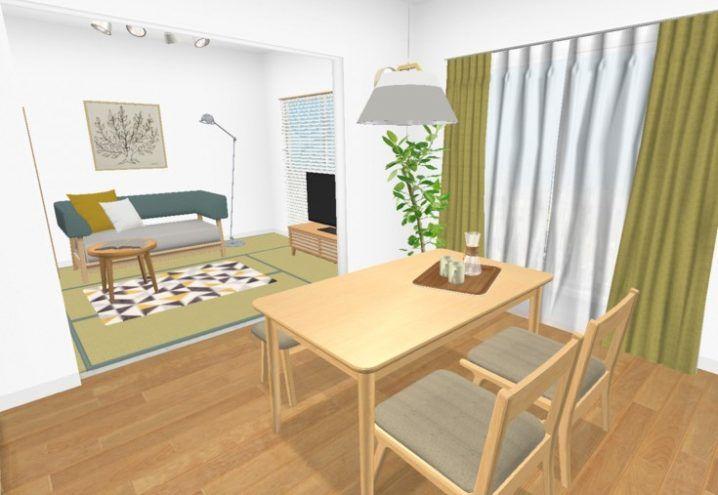 2dkの世帯別レイアウト インテリアや家具配置シミュレーションを写真付きで解説 6畳 リビング ふたり暮らし インテリア リビング