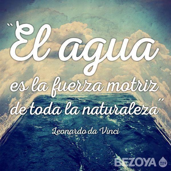 El agua es la fuerza motriz de toda la naturaleza. # ...