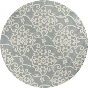 Meredith Silver Gray 8 ft. Round Area Rug-MERE-8828 at The Home Depot