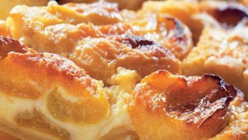 Marhuľový koláč s mandľovým krémom   Recepty.sk