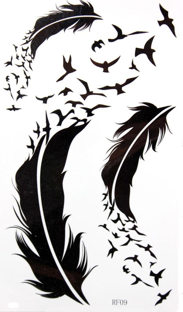 GGSELL KING HORSE Новый дизайн гусиное перо и временные наклейки татуировки
