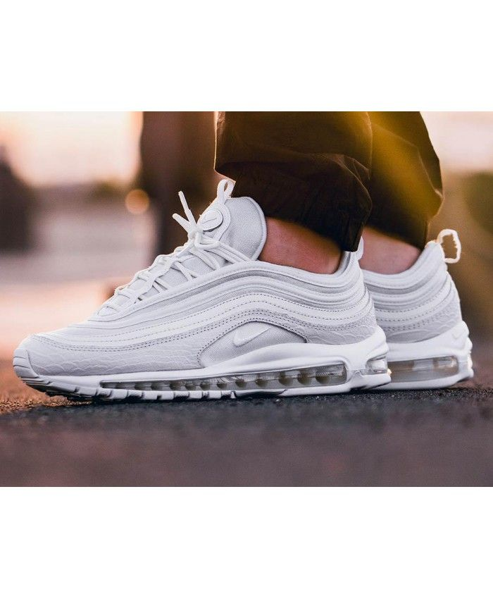 b2b6aa401ce24 Nike Air Max 97 Mens Triple White Trainer | Sneakers : Nike Air Max ...