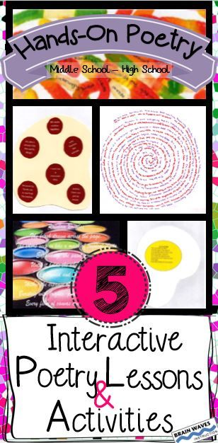 This CCSS aligned Hands-On Poetry Writing Unit contains 5 super engaging, super interactive, and super educational poetry writing lessons. Each lesson is designed to help students interact with poetry and celebrate their creativity while they develop their critical poetry analysis, comprehension, and writing skills. Your students will not only enthusiastically participate in these lessons, they'll also create some of the best poems ever!