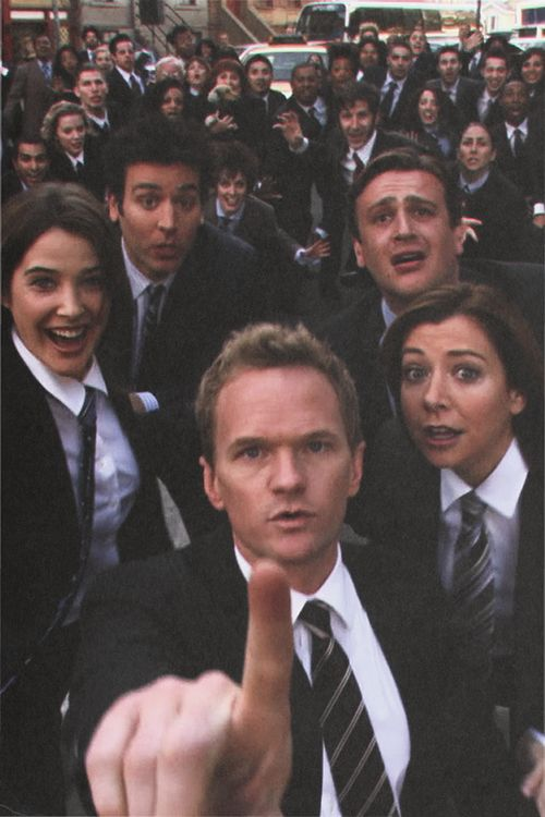 Cobie Smulders as Robin Scherbatsky, Josh Radnor as Ted Mosby, Jason Segal as Marshall Eriksen, Alyson Hannigan as Lily Aldrin & Neil Patrick Harris as Barney Stinson - How I Met Your Mother
