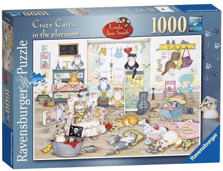 RAVENSBURGER PUZZLE*1000 TEILE*CRAZY CATS IN THE PLAYROOM*LINDA JANE SMITH*OVP | eBay