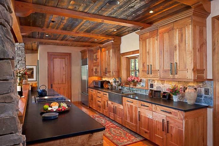 Rustic Galley Kitchen Log Cabin Designs Pinterest Galley Kitchens Rustic And Kitchens