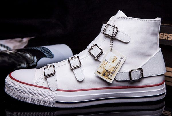 9dd4ca07cff74 Converse VS ASH Limited Edition Multi Buckles White Leather Chuck Taylor  All Star High Tops Sneakers  converse  shoes