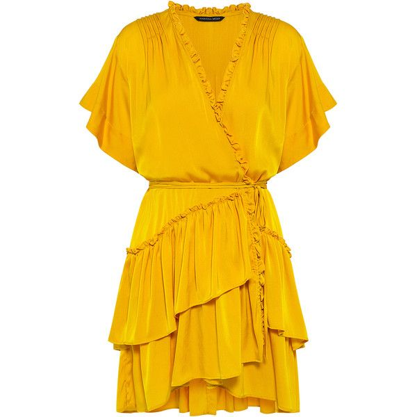 Marissa Webb - Lydia Dress found on Polyvore featuring dresses, tiered dress, ruffle dress, flounce dress, mini dress and frill dress