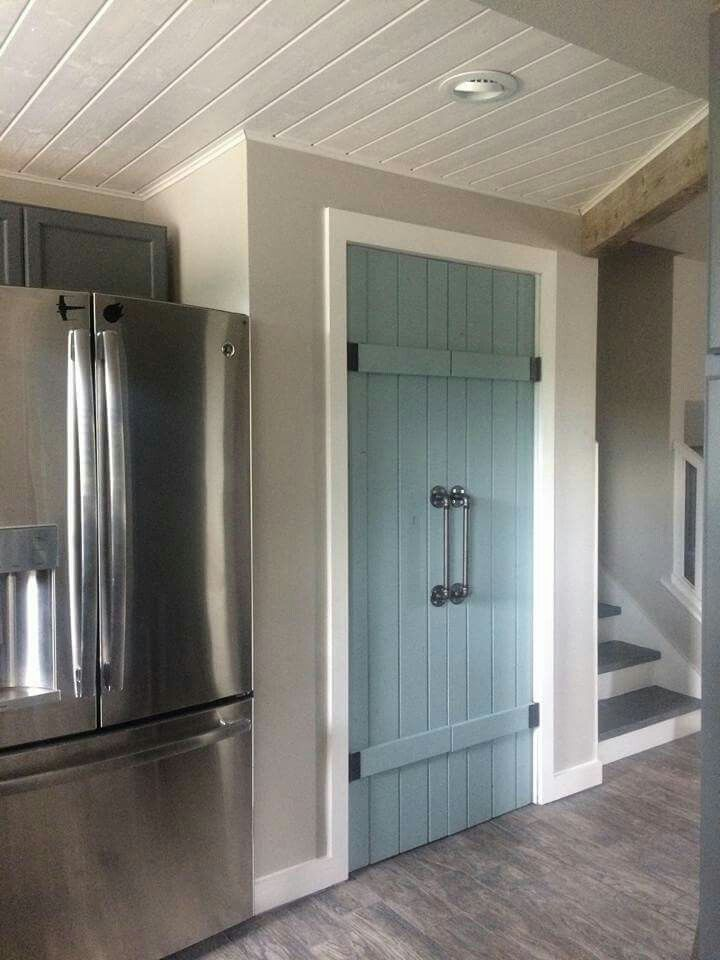 Blue pantry doors