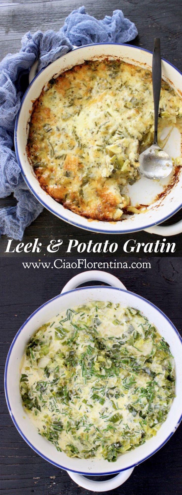 Leek Potato Gratin Recipe | CiaoFlorentina.com @CiaoFlorentina