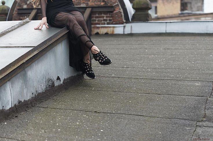 Polska blogerka Joannavi w butach Proenza Schouler z Outletmax.pl