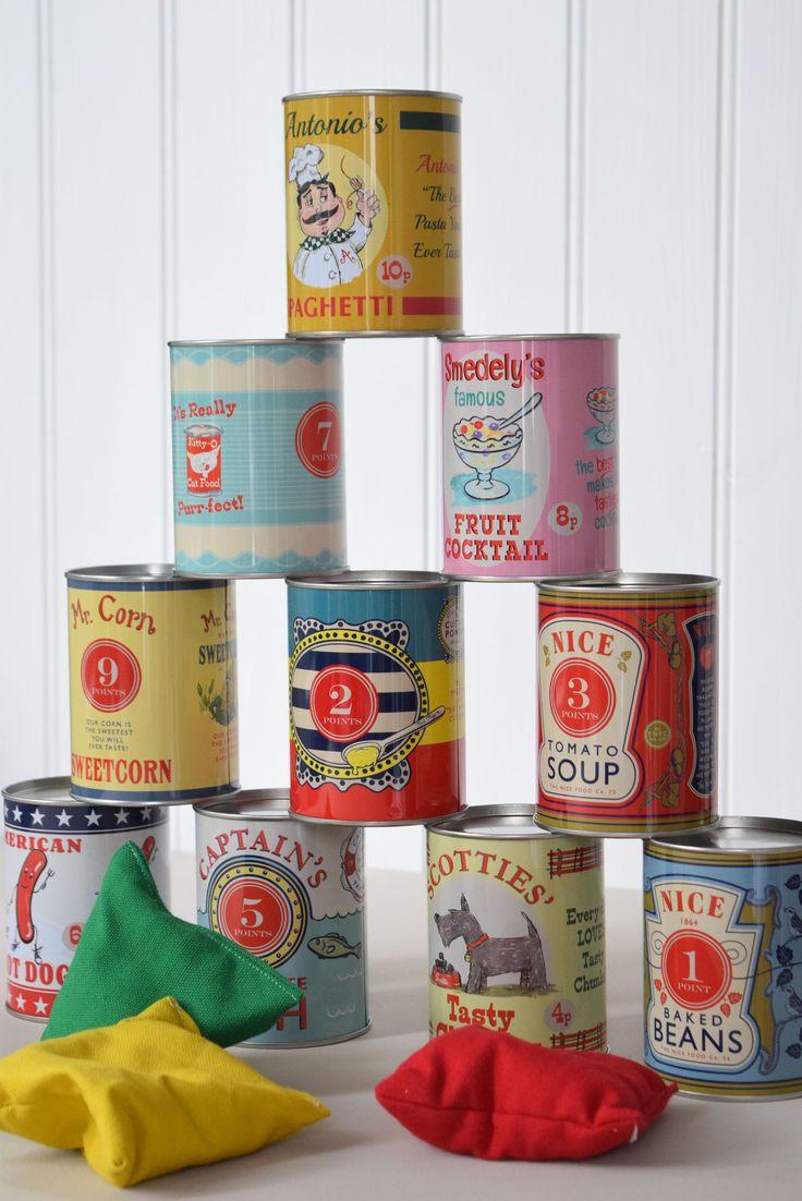 Designer Dosenwurfspiel im Retrolook für das Jahrmarkt-Feeling für Zuhause. Jetzt entdecken im Onlineshop bei Selection Gustavia.