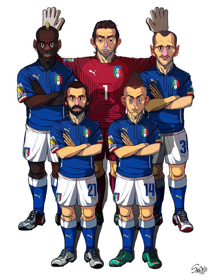 [2014 World cup Edition] D team : Italy by sakiroo.deviantart.com on @deviantART