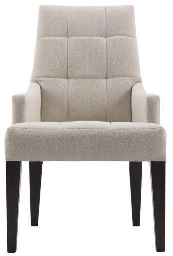 Barbara Barry designer chair. This is the perfect chair for a contemporary classic look in your dining room.