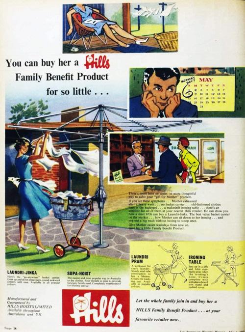 Hills Hoist, 1960.