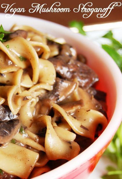 MeatlessMonday with #Vegan Mushroom Stroganoff http://www.miratelinc ...