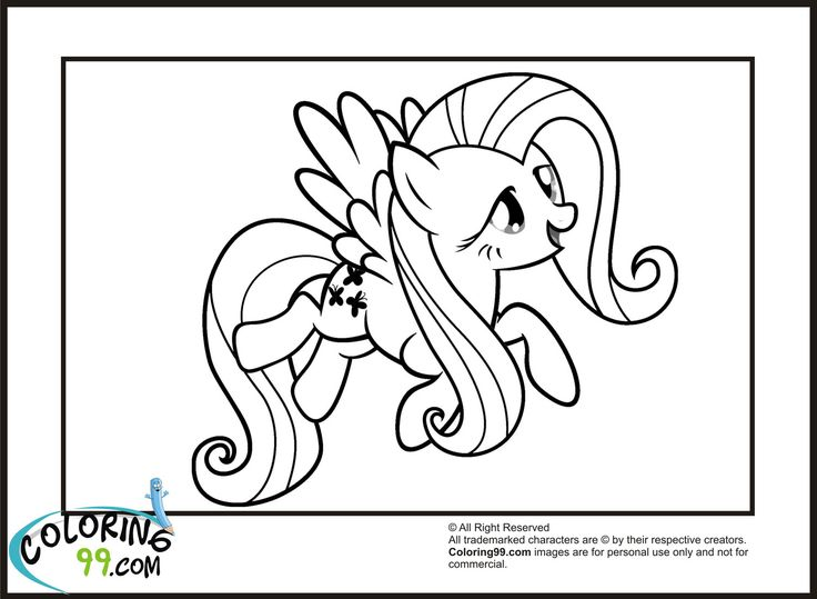 Mlp Flying Fluttershy Coloring Pages 1500x1100