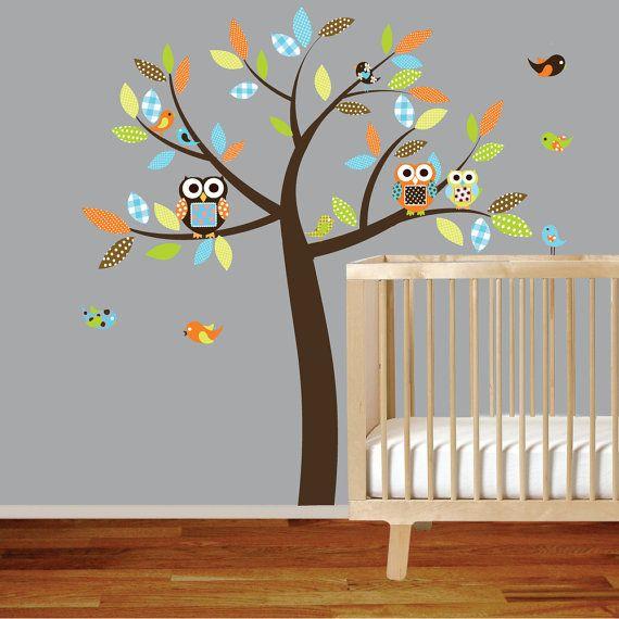 Best Vinyl Wall Decal Vinyl Wall Decal Stickers Owl Tree Set Nursery Boy Baby Vinyls My Children 640 x 480