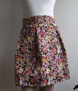 how to make a very easy high waist skirt
