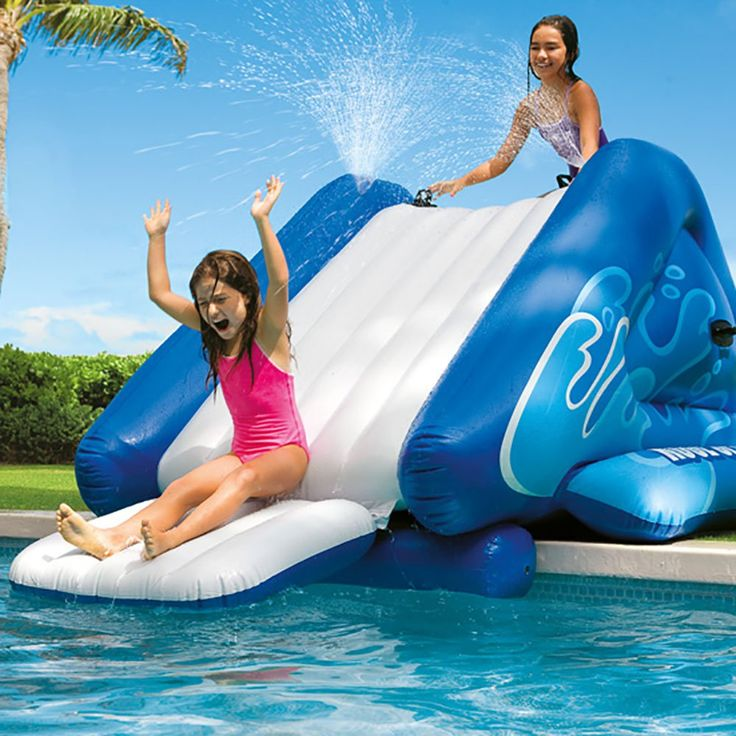Slide into summer!  The slide is great for most any in-ground pool and any above ground pool with a sufficient pool height deck. It's built with 5 separate air chambers for extra safety and durability and includes 6 heavy duty handles for safer climbing and carrying.