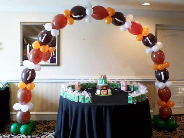 13 best football theme party ideas images on pinterest football how it was done link o loon balloon theme football arch junglespirit Choice Image