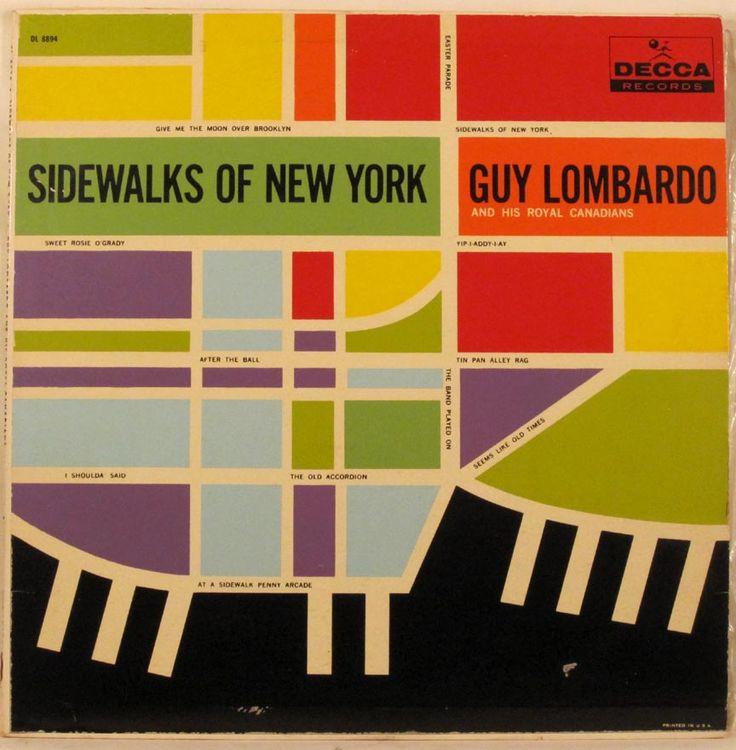 Sidewalks of New York – Guy Lombardo vintage album cover 1950s