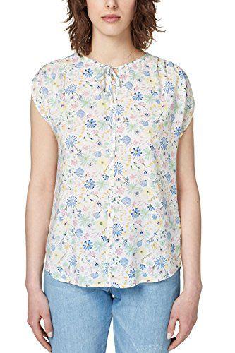 ESPRIT Damen Bluse 058EE1F032 Weiß (Off White 110) 34.  apparel  shirt a6d978adb4