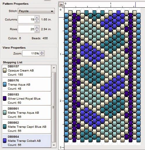 Several peyote patterns with examples shown in different colors.  #Seed #Bead #Tutorials