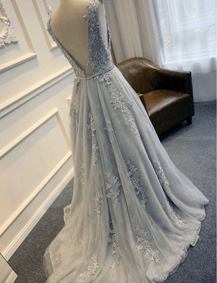 WDZ7028 Cheap Tulle Blue Wedding Dress Plus Size Appliques Floor Length Open Back Wedding Bridal Gown Vestidos de Noite-in Wedding Dresses from Weddings & Events on Aliexpress.com | Alibaba Group