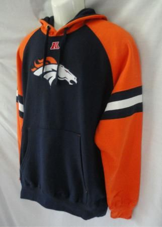 Broncos Hoodies for Women | Denver Broncos Orange Blue Hoodie Sweatshirt Mens XL | eBay