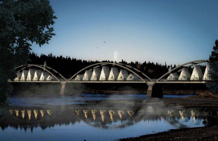 Exklusivt boende byggs på avstängd bro | Affärsnyheter från Västerbotten