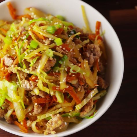The healthy way to enjoy an egg roll! #food #lunch #dinner #easyrecipe #recipe #gf #glutenfree #healthy #healthyeating #cleaneating