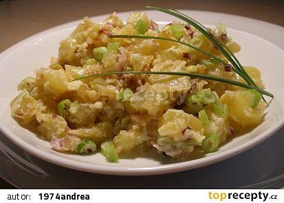Pečený bramborový salát ( teplý) recept - TopRecepty.cz
