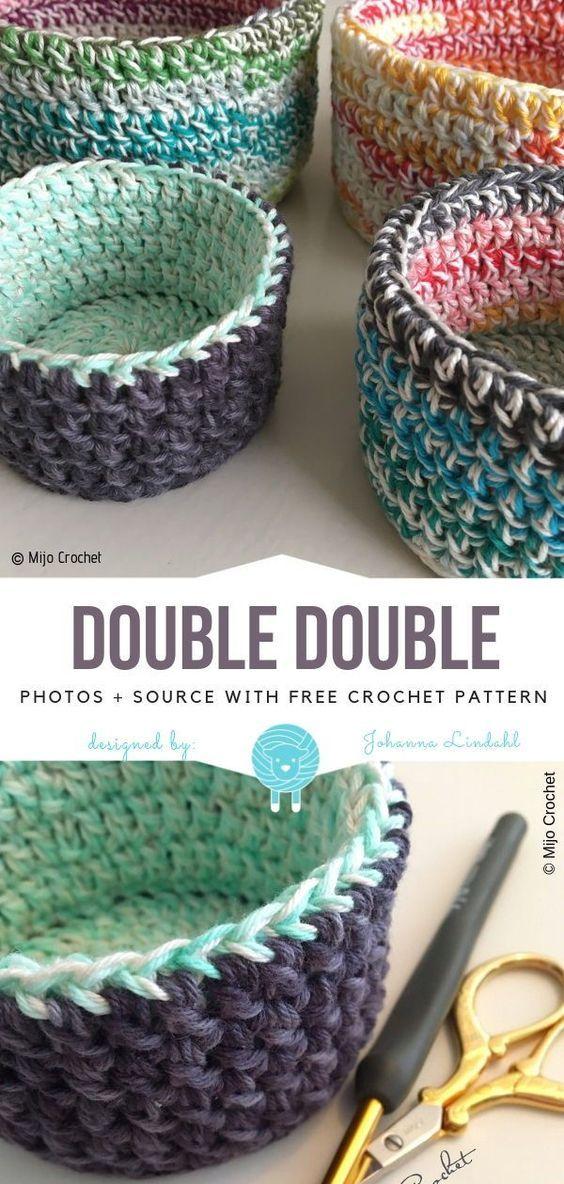 Great Crochet Baskets Padrões Livres