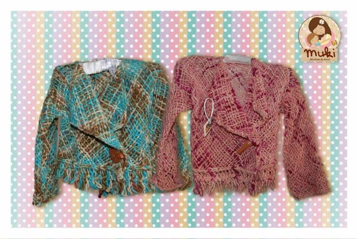 Chalecos tejidos a telar, 100% lana de oveja teñida e hilada a mano $16.500