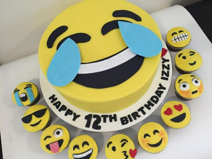 Teen Emoji Birthday Cake