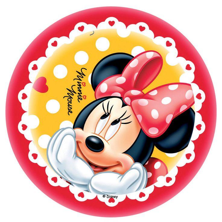 Disque Azyme Minnie Dans Ses Rêves 21 Cm Disque Azyme Pour Gâteaux