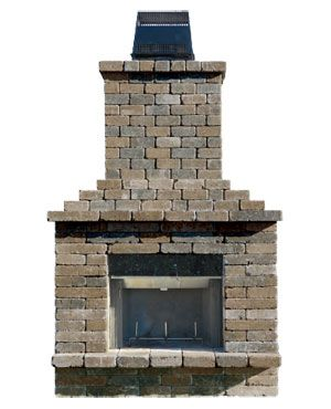 1000 images about Paver Fireplace on Pinterest