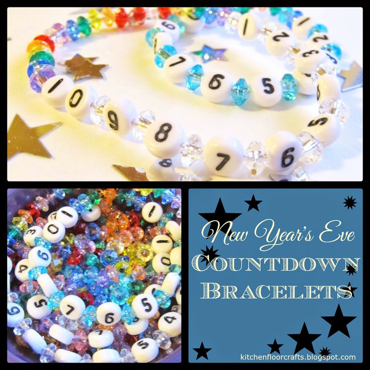 Kitchen Floor Crafts: New Year's Eve Countdown Bracelets