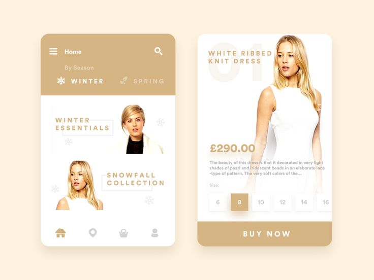 Seasonal ecommerce fashion app by Kyran Leech