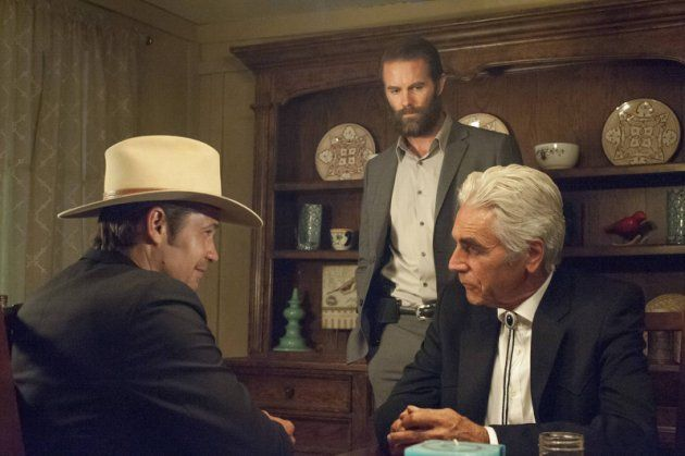 Timothy Olyphant as Deputy U.S. Marshal Raylan Givens, Garret Dillahunt as Ty Walker, Sam Elliott as Avery Markham